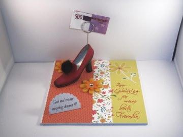 Geldgeschenk neue Schuhe, Highheels, Geburtstag, Schuhe kaufen, Schuhkauf, beste Freundin - Handarbeit kaufen
