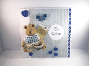 Geldgeschenk, Geburt, Taufe, Junge, Baby, Bär, Keramik, Wandbild   - Handarbeit kaufen