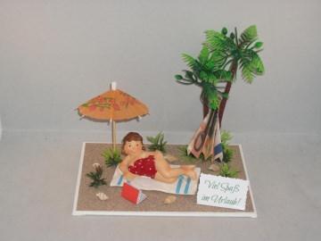 Geldgeschenk, Urlaub, Geburtstag, Urlaubsgeld für die Frau, Single-Urlaub - Handarbeit kaufen