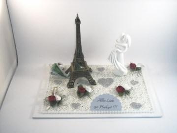 Geldgeschenk Hochzeit, Paris, Eiffelturm, Reise, Hochzeitsreise, Flitterwochen, Frankreich