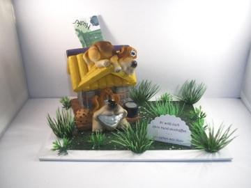 Geldgeschenk Hund, Hundefutter, Tier, Hundehütte, Welpe, Geburtstag