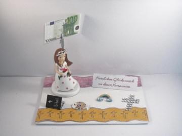 Geldgeschenk zur Kommunion, Konfirmation, Firmung, für ein Mädchen - Handarbeit kaufen