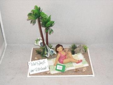 Geldgeschenk, Urlaub, Geburtstag, Urlaubsgeld für die Frau, Single-Urlaub, Frau alleine im Urlaub  - Handarbeit kaufen