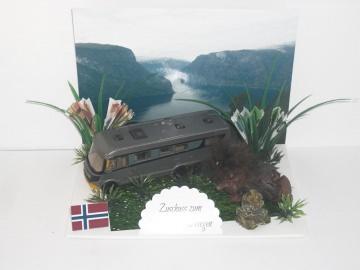 Geldgeschenk, Urlaub, Geburtstag, Wohnmobil, Wohnwagen, Norwegen, Troll, Inukshuk, Skandinavien, Finnland, Schweden - Handarbeit kaufen