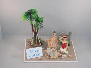 Geldgeschenk, Urlaub, Urlaubsgeld, Geburtstag, Frühbucher, Strand, Meer, Strandurlaub - Handarbeit kaufen