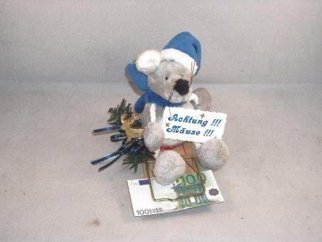 Geldgeschenk zu Weihnachten, Mausefalle, Geld verschenken, Mäuse