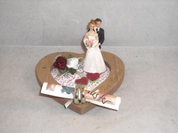 Geldgeschenk, Hochzeit, Ehe, Vermählung, Herz, kleines Geschenk