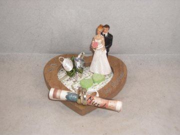 Geldgeschenk, Hochzeit, Ehe, Vermählung, Herz, kleines Geschenk   - Handarbeit kaufen