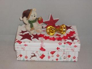 Geldgeschenk, Geschenkschachtel, Weihnachten, Geschenkbox, Weihnachtsbär