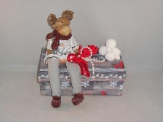 Geldgeschenk, Geschenkschachtel, Weihnachten, Geschenkbox, Elch, Rentier