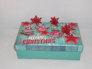 Geldgeschenk, Geschenkschachtel, Weihnachten, Geschenkbox, mit vielen Sternen - Handarbeit kaufen