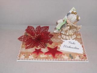Geldgeschenk zu Weihnachten, Tischdeko, Winterzeit, Engel mit Schwan - Handarbeit kaufen