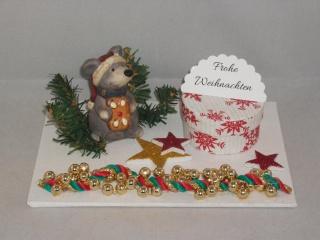 Geldgeschenk zu Weihnachten, Maus, Weihnachtsmaus, Geschenkdose, Geschenkbox