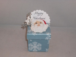 Geldgeschenk zum Nikolaus, Geschenkschachtel, Niko, Geschenkbox, mit Nikolauskopf