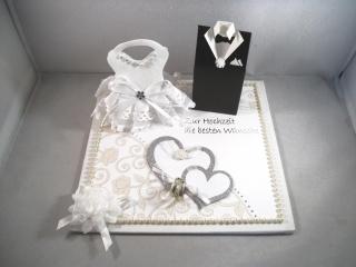 Geldgeschenk, Hochzeit, Ehe, Brautkleid, Bräutigam, Brautpaar