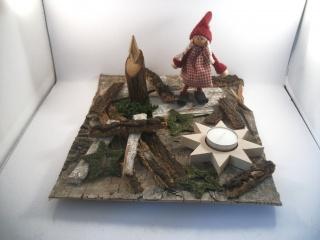 weihnachtliche Tischdekoration aus Naturmaterial, Advent, auch als Geldgeschenk verwendbar  - Handarbeit kaufen