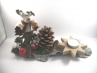 weihnachtliche Tischdekoration aus Naturmaterial, Advent, auch als Geldgeschenk verwendbar