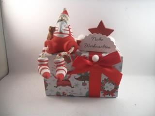 Geldgeschenk, Geschenkschachtel, Geschenkbox, Weihnachten, mit lustigem Nikolaus