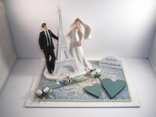 Geldgeschenk Hochzeit, Paris, Eiffelturm, Reise, Hochzeitsreise, Flitterwochen, Frankreich - Handarbeit kaufen