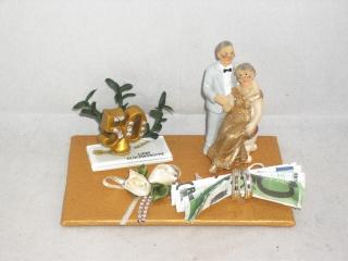 Geldgeschenk Goldene Hochzeit, 50, Ehejubiläum, lange Ehe, Goldhochzeit