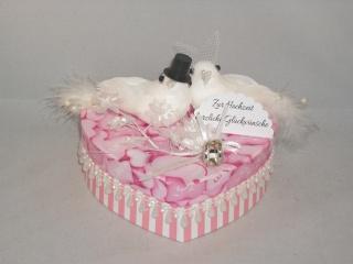 Geldgeschenk Hochzeit, Geschenkschachtel, Herzschachtel, romantisch, Geschenkbox , mit Tauben - Handarbeit kaufen