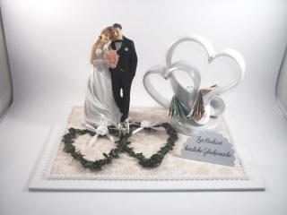 Geldgeschenk Hochzeit, Herz-Skulptur, Skulptur, Doppelherz, Hochzeitsgeschenk