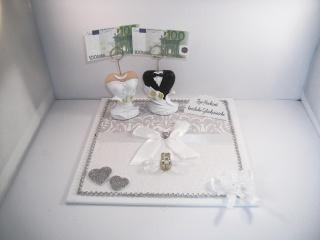 Geldgeschenk, Hochzeit, Ehe, Brautkleid, Bräutigam, Geldhalter, Geldklammer - Handarbeit kaufen