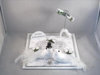 Geldgeschenk, Hochzeit, Ehe, Tauben, Herz, Hochzeitsgeschenk