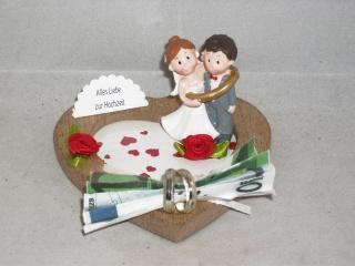 Hochzeit, Geldgeschenk, Bräutigam gefangen, Vermählung, Ring, lustig, humorvoll - Handarbeit kaufen