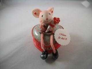 Geschenkdose für Schmuck, Maus, Liebe, Love, Geldgeschenk zum Geburtstag, Jugendweihe, Schmuckdose
