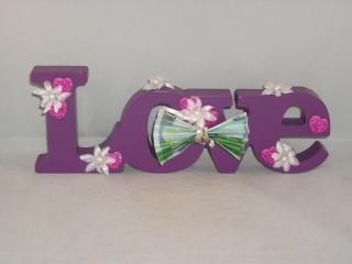 Geldgeschenk zur Hochzeit, Liebe, Love, Schriftzug, Holz lackiert - Handarbeit kaufen