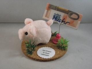 Geldgeschenk, Schwein, Geburtstag, Jugendweihe, Ferkel, Plüschschwein, Geburtstagsgeschenk - Handarbeit kaufen