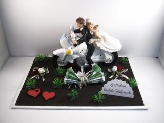 Geldgeschenk Hochzeit, Biker, Motorrad, Roller, Motorradfahrer, Biker-Hochzeit