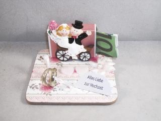 Geldgeschenk, Hochzeit, Ehe, Vermählung, kleines Geschenk, Kutsche, Nostalgie - Handarbeit kaufen