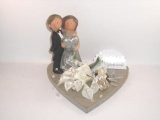 Geldgeschenk, Silberhochzeit, 25 Jahre Ehe, Silberne Hochzeit, mit lustiger Figur - Handarbeit kaufen