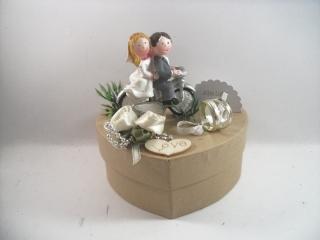 Geldgeschenk Hochzeit, Biker, Motorrad, Roller, Motorradfahrer, Biker-Hochzeit   - Handarbeit kaufen