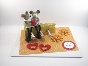Geldgeschenk zum Geburtstag, Jugendweihe, Geld verschenken, Mäuse, Käse, für die Freundin, shoppen - Handarbeit kaufen
