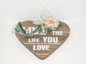 Geldgeschenk, Geburtstag, Rente, Jubiläum, Pension, Herz mit Spruch, live the life you love