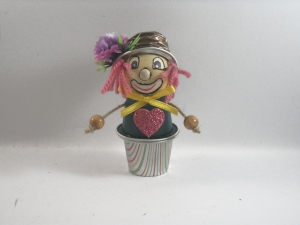 Clown aus Nespresso-Kapseln, Tischdeko, Fasching, Karneval, Helau, Alaaf, 0001