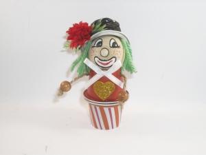 Clown aus Nespresso-Kapseln, Tischdeko, Fasching, Karneval, Helau, Alaaf, 0002