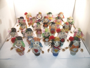 Clowns aus Nespresso-Kapseln, 3er-Überraschungs-Set, Tischdeko, Fasching, Karneval, Helau, Alaaf,