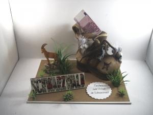 Geldgeschenk Geburtstag, Wanderurlaub, wandern, Schwarzwald, Wanderschuhe, Berge, Gebirge    - Handarbeit kaufen
