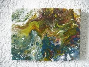 Wandbild, Acrylmalerei, Acryl-Pouring, Pouring-Technik, Fließtechnik, Pouring, Kunst, Malerei, Bild, Wanddekoration, Einzelstück, Unikat - Handarbeit kaufen