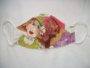 Mund-Nasen-Maske, Maske, Behelfsmaske, Gesichtsmaske, lustiges Motiv von Loralie Designs®, Damen, Teenies, Teens, Mädchen, L01-85     - Handarbeit kaufen