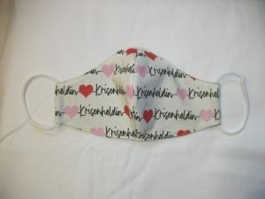 Mund-Nasen-Maske, Maske, Behelfsmaske, Gesichtsmaske, hübsches Motiv Krisenheldin, für Damen 100-85 - Handarbeit kaufen
