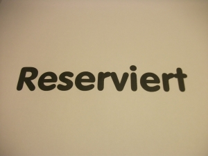 Reserviert für F.E.