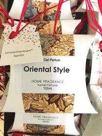 handgefertigtes Duftkissen-Parfum für Wohnräume mit orientalischen Kräutern, Gewürzen und ätherischen Ölen