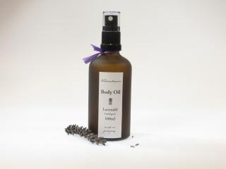 AROMATHERAPIE-KÖRPERÖL Lavendel  mit Jojobaöl, Aprikosenkernöl, Mandelöl