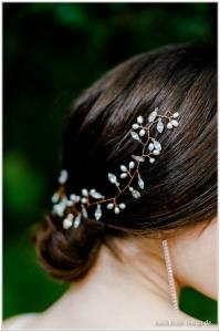 Haarschmuck Braut Rosegold Diadem Tiara Strass