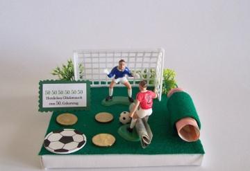 Geldgeschenk  für den Fußballfan, zum Geburtstag,Geschenkgutschein